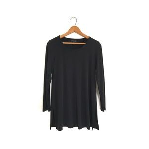 Eileen Fisher Black Silk Jersey Tunic size SP